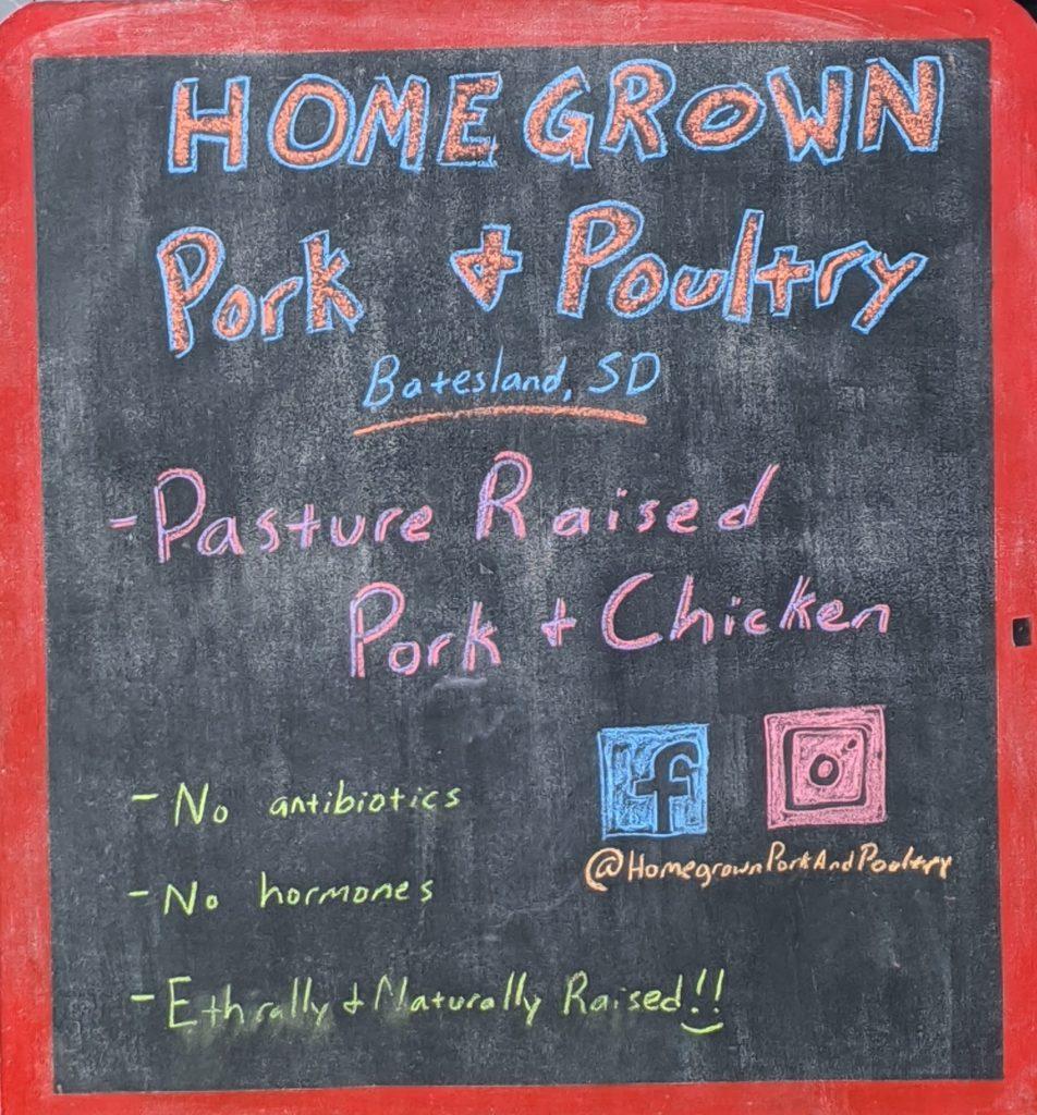 Black Hills Farmers Market Pork & Poultry